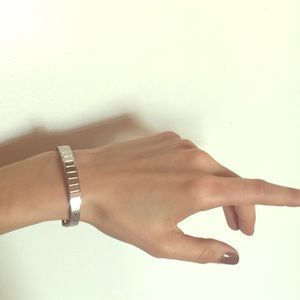 Micheal Kors Silver Buckle Bracelet